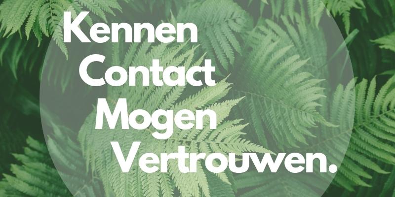 Kennen Contact Mogen Vertrouwen